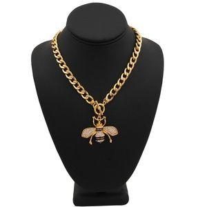 Jewelry - Rhinestone Bee Toggle Necklace